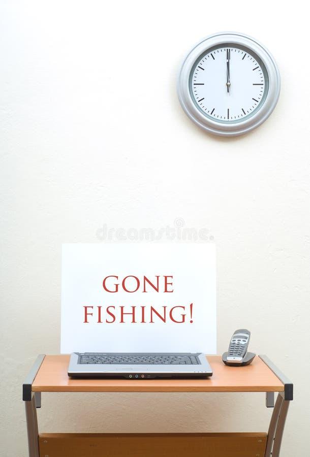 Download Gone Fishing stock photo. Image of desktop, business, desk - 7473356