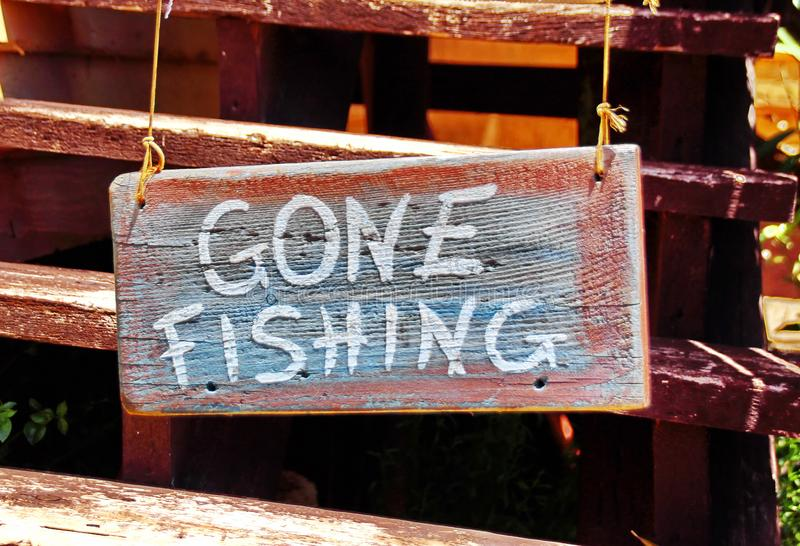 Gone Fishing royalty free stock photo