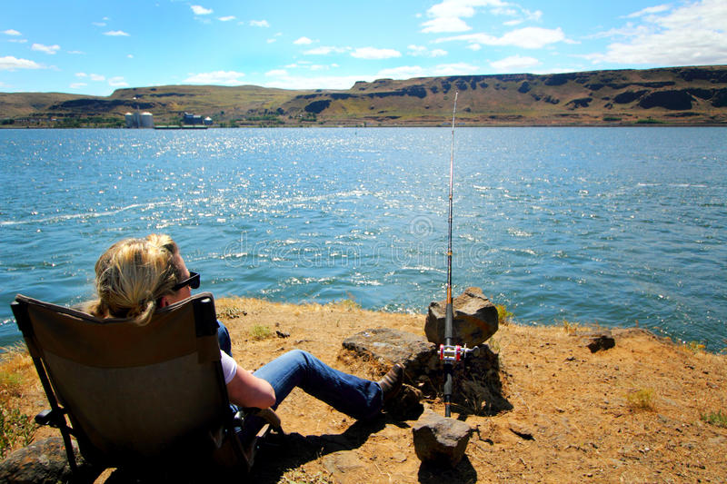 Gone Fishing royalty free stock photography