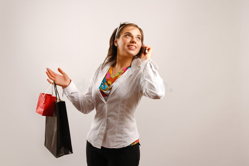 Gone shopping royalty free stock images