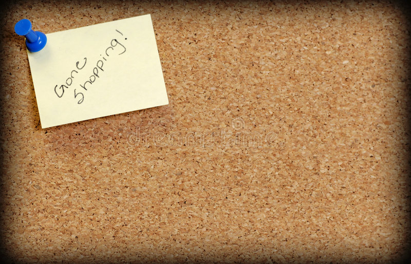 Download Gone shopping message stock image. Image of gone, noticeboard - 4105491