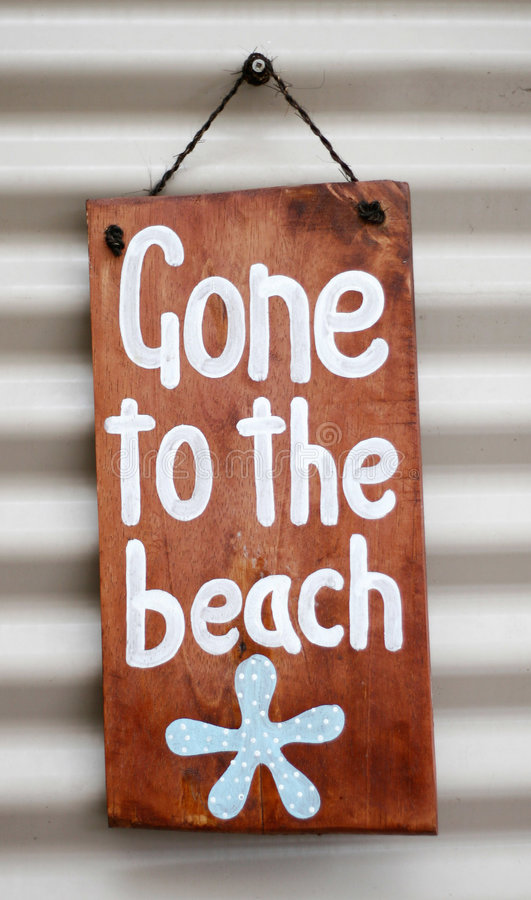 Gone to the beach royalty free stock photo