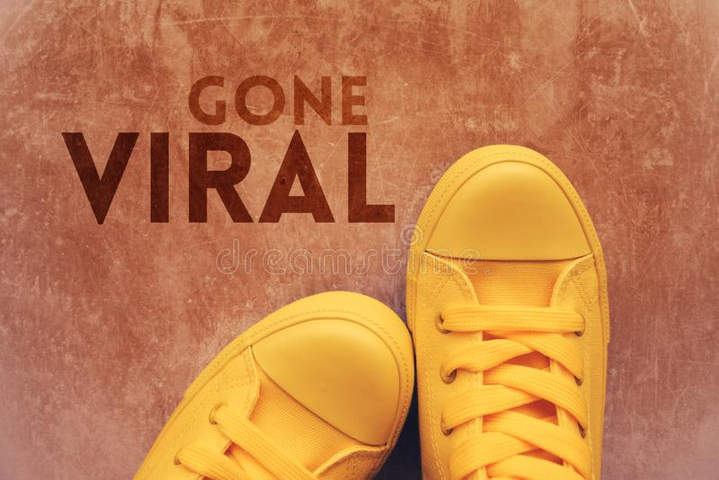 Gone viral concept royalty free stock images