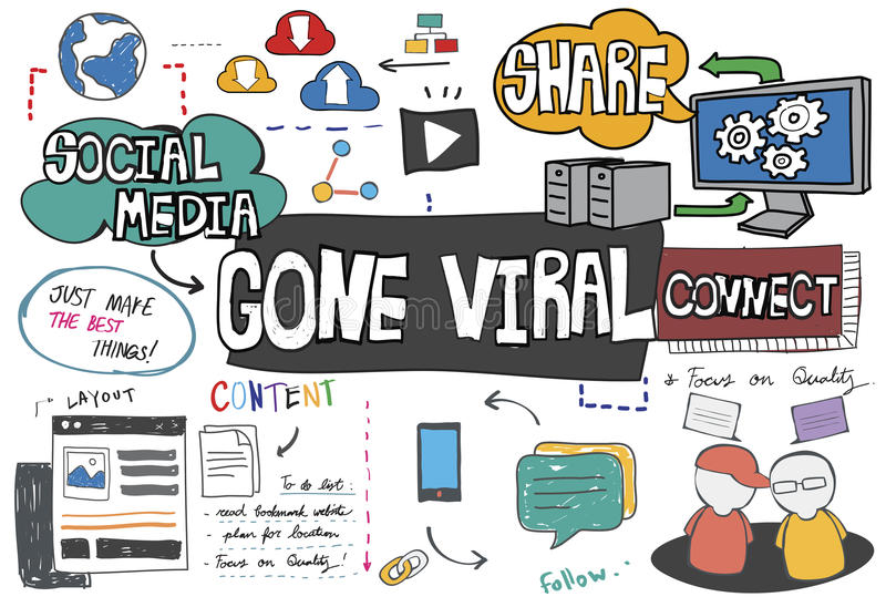 Gone Viral Cyber MultiMedia Internet Technology Concept royalty free stock photography