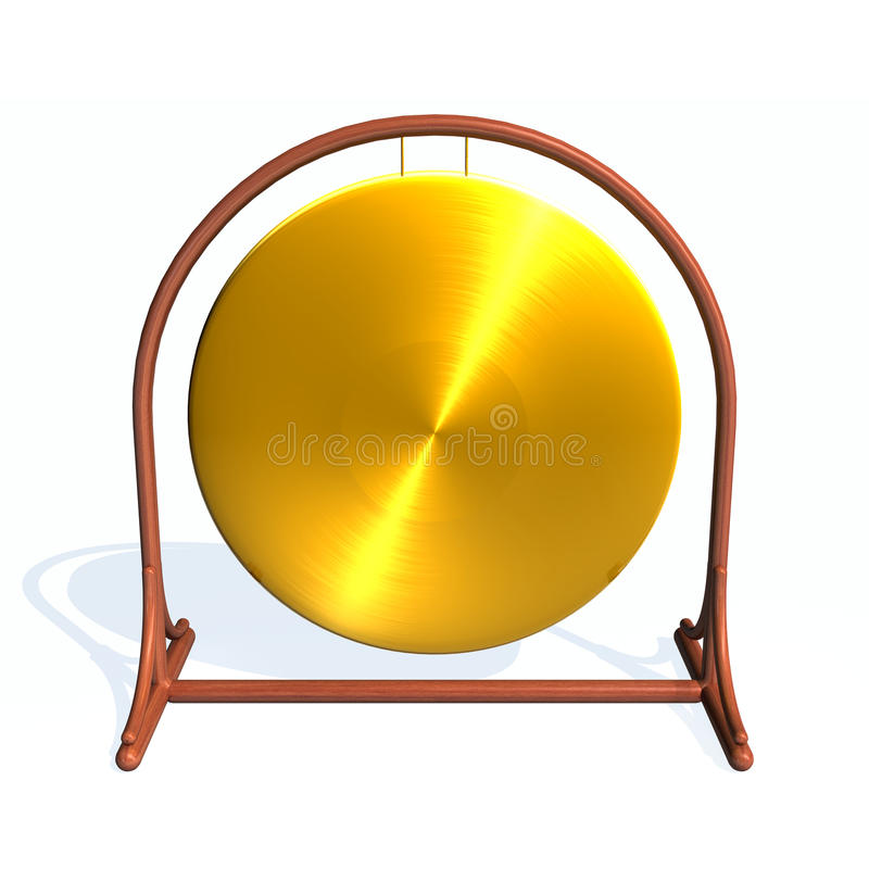gong διανυσματική απεικόνιση