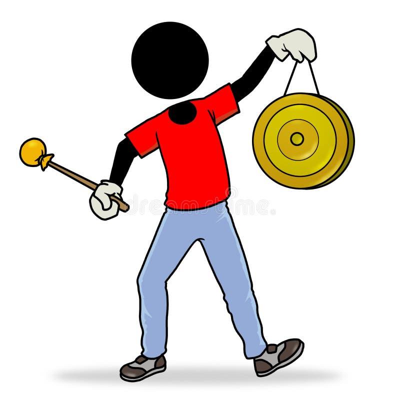 Gong illustration de vecteur