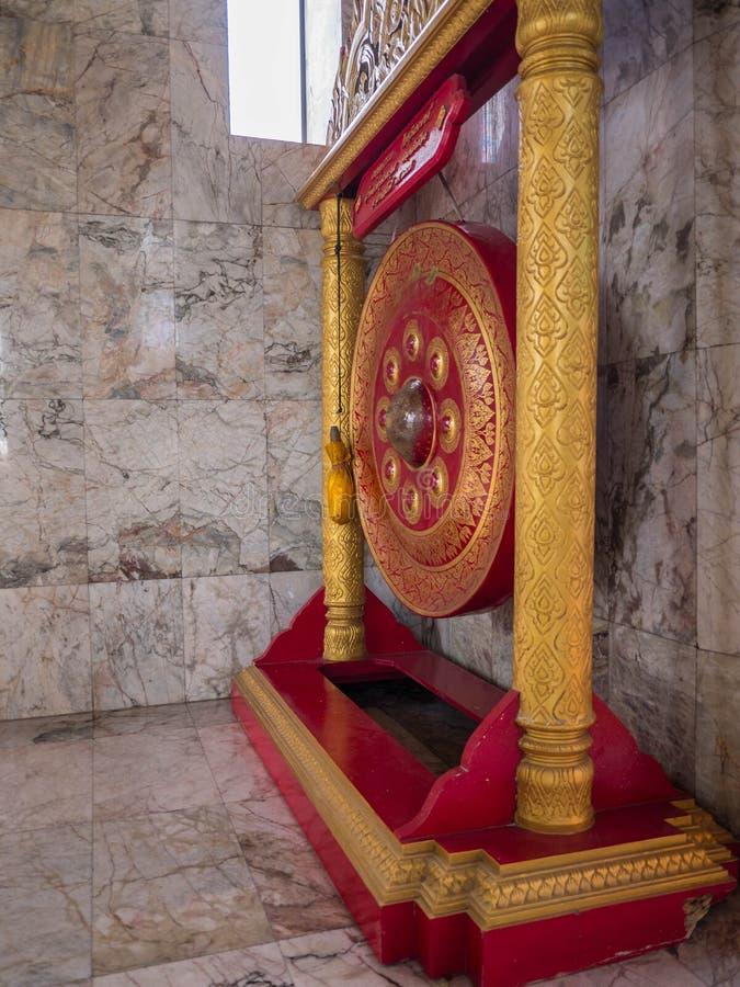 Gong antique de gong indigène thaïlandais en Thaïlande image stock
