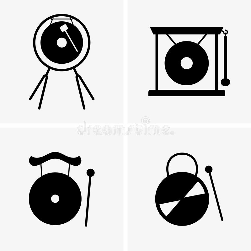 Gong stock illustration