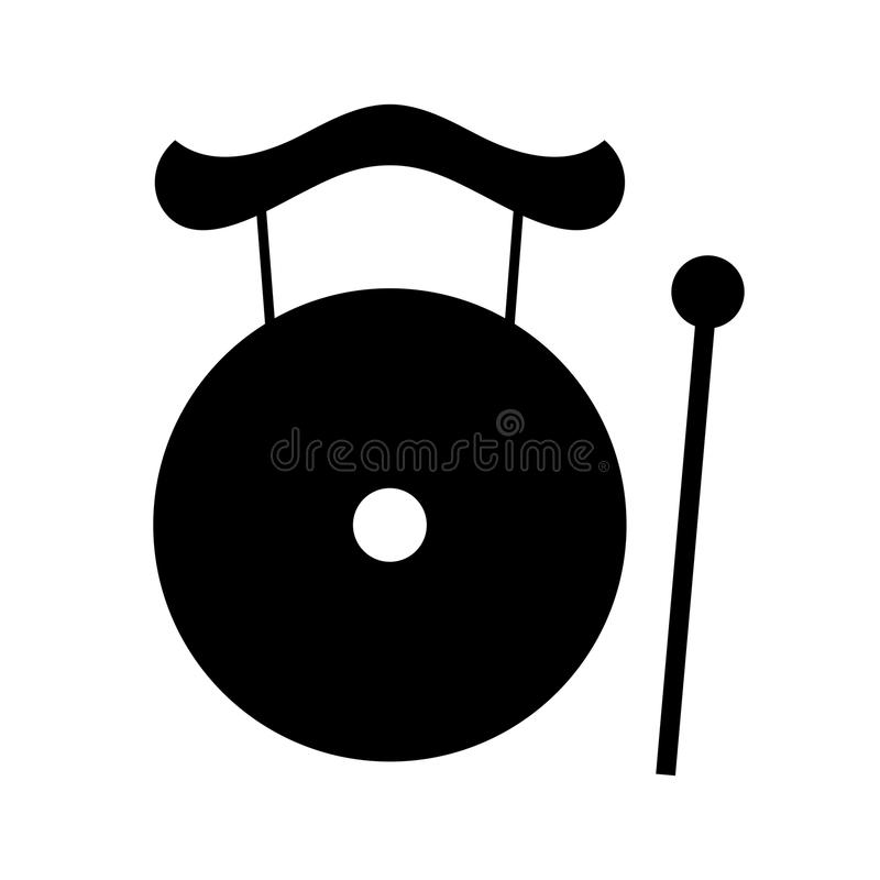 Gong. Available in high-resolution and several sizes to fit the needs of your project royalty free illustration