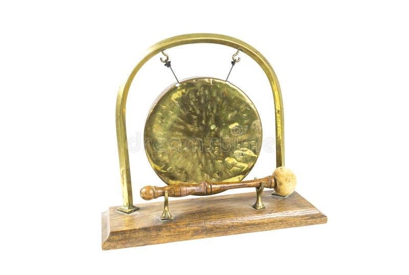 Gong e battitore del metallo fotografia stock