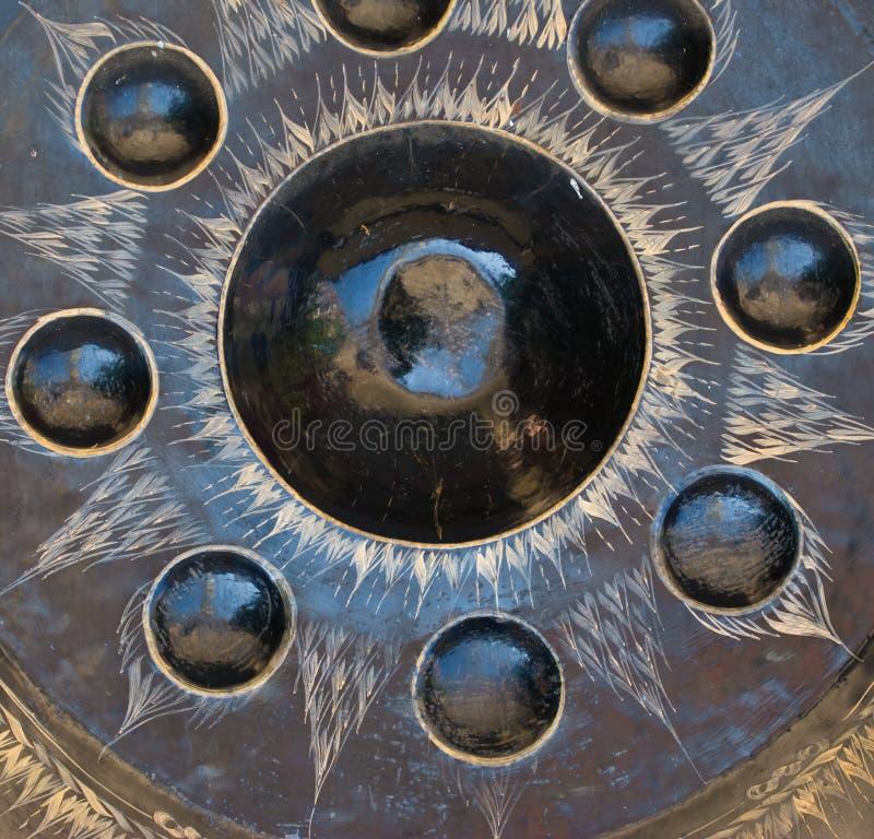 Gong tailandese del tempio immagini stock