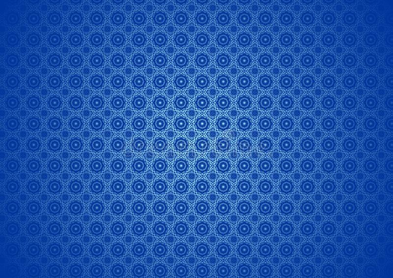 Floral Nature Oriental, Ornamental, Chinese, Arabic, Islamic, Imlek, Ramadan, Festival Blue Pattern Texture Background Wallpaper stock illustration