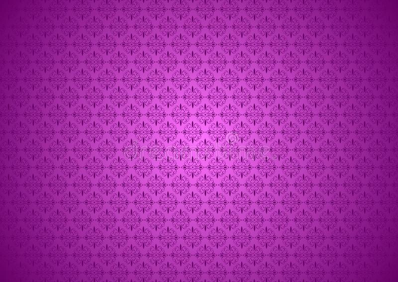 Download Purple Violet Vintage Flora Oriental Ornamental Chinese Arabic Islamic Imlek Ramadan Festival Pattern Texture Background