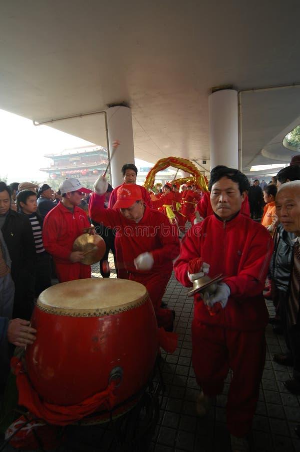 Gongen en trommel-Shehuo stock foto