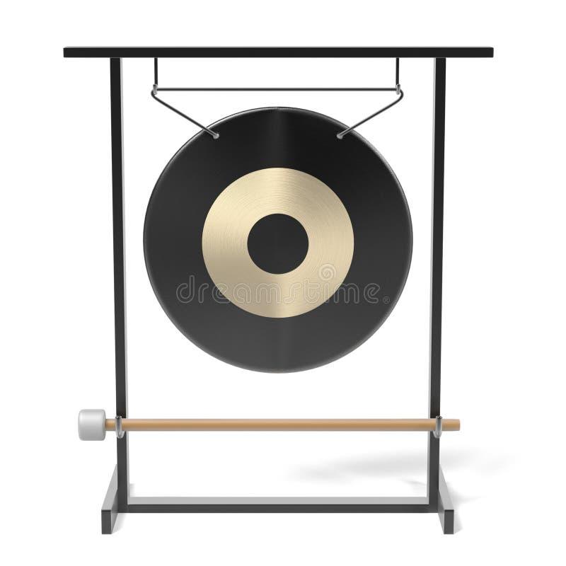 Gongo de orquesta ilustración del vector