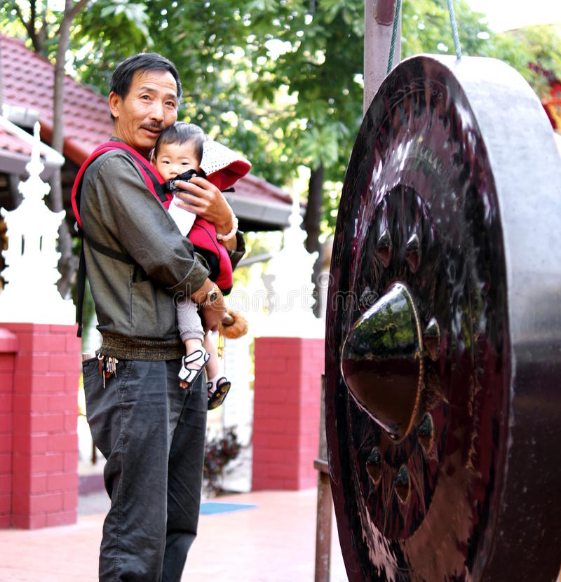 Gongo tailandês imagens de stock royalty free
