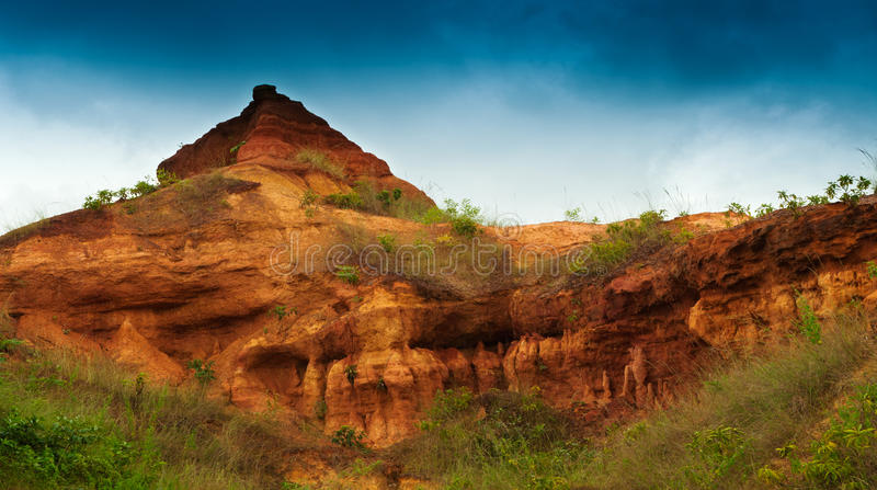 gongoni,西部Benga,印度红色土壤  库存照片