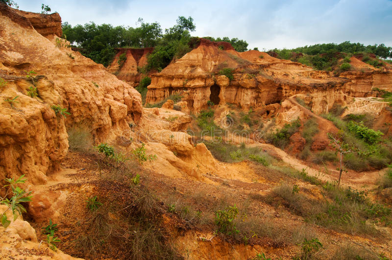 Gongoni, grand canyon of west bengal, India. Gongoni, called grand canyon of west bengal, gorge of red soil, India stock photo