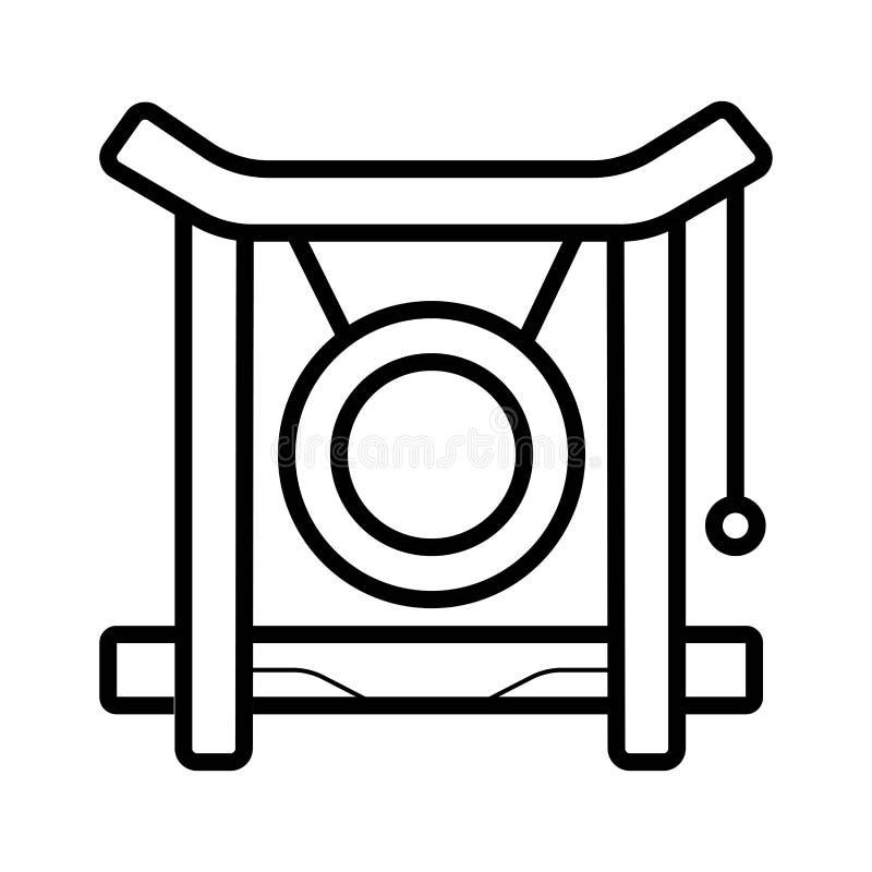 Gongsymbolsvektor stock illustrationer