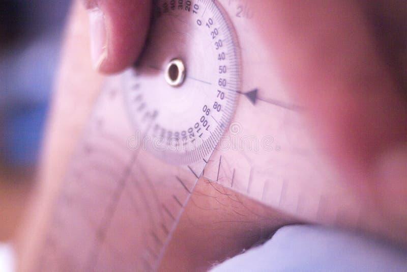 Goniômetro da fisioterapia imagens de stock royalty free