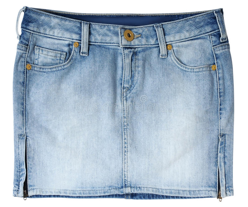 Gonna dei jeans fotografie stock