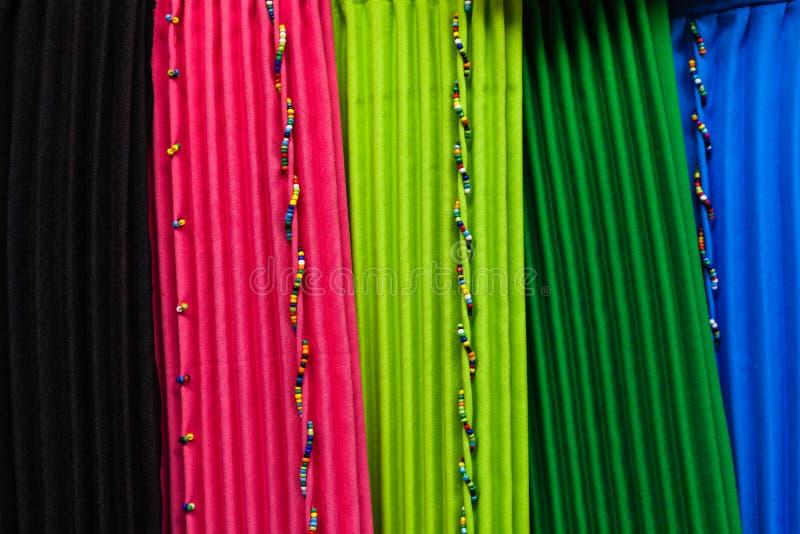 Vestiti africani di stile di colori fotografia stock libera da diritti