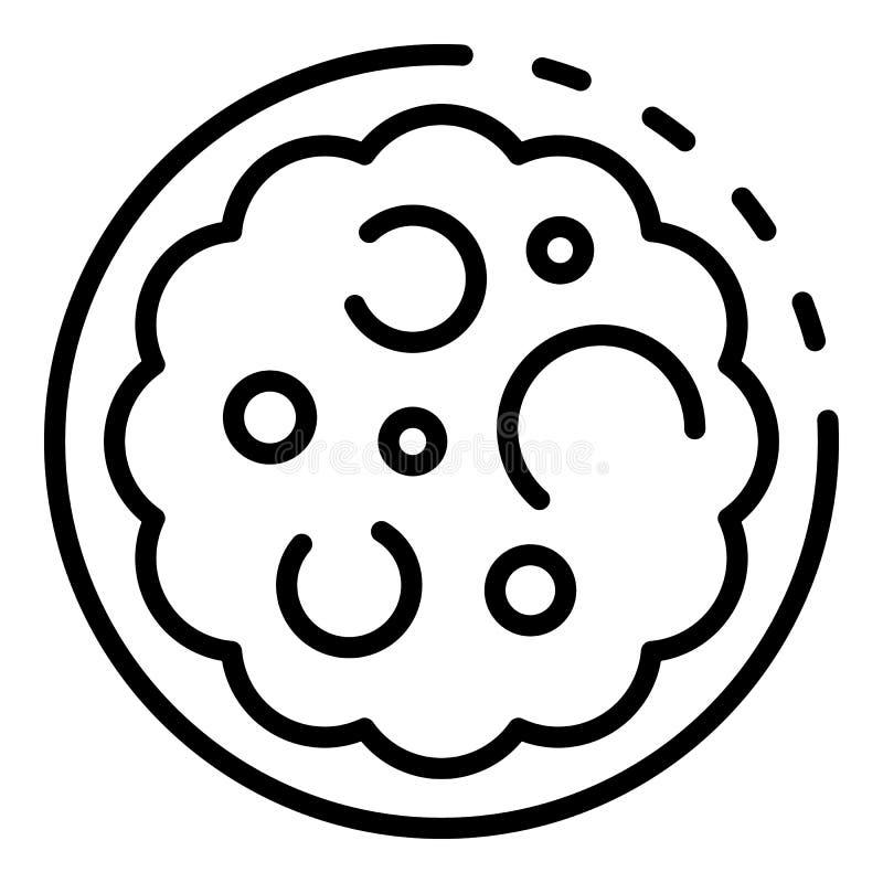 Gonococcus εικονίδιο, ύφος περιλήψεων ελεύθερη απεικόνιση δικαιώματος