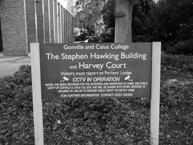 Gonville ed istituto universitario Harvey Court di Caius a Cambridge in bianco e nero immagine stock