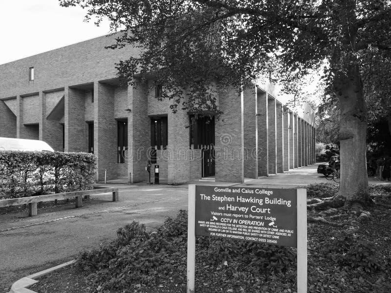 Gonville ed istituto universitario Harvey Court di Caius a Cambridge in bianco e nero immagini stock