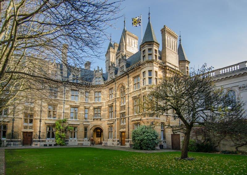 Gonville och Caius högskola, Cambridge royaltyfria foton