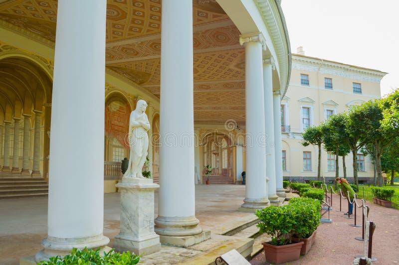 Gonzaga Gallery-de bouw, architecturale en freskoensemble in Pavlovsk, St. Petersburg, Rusland royalty-vrije stock afbeeldingen