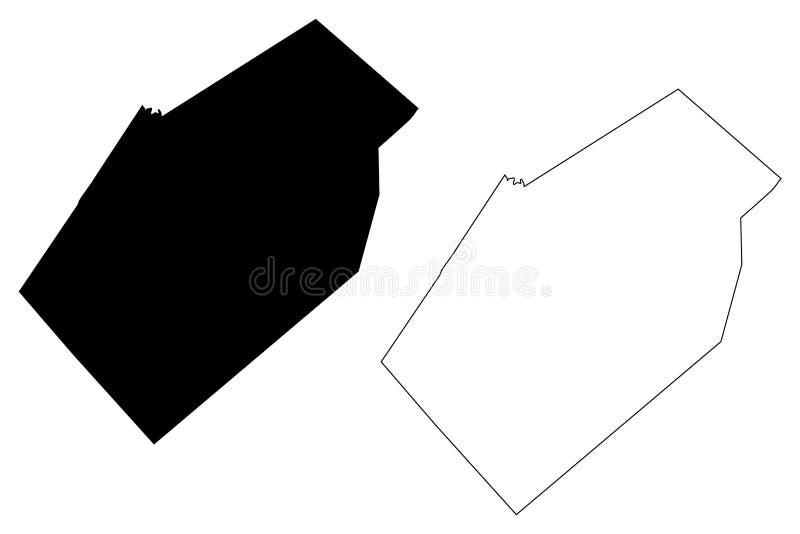 Gonzales okręg administracyjny, Teksas okręgi administracyjni w Teksas, Stany Zjednoczone Ameryka, usa, U S , USA mapy wektorowa  ilustracja wektor