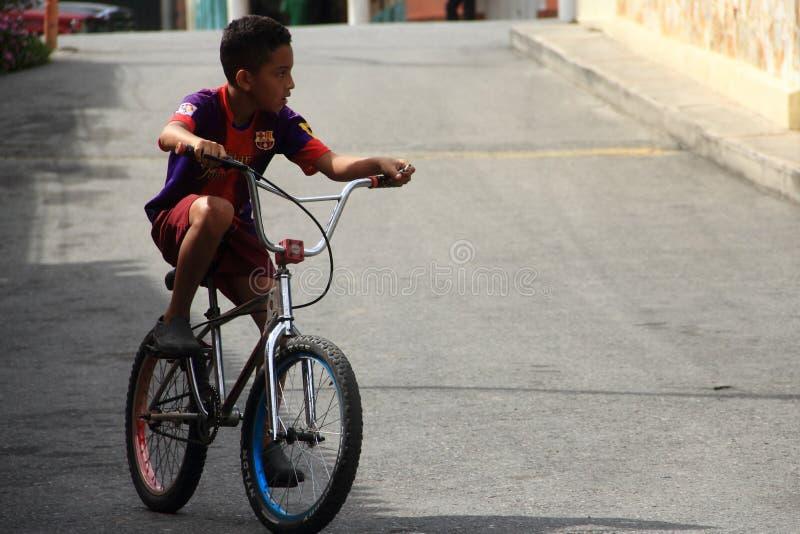 Boy Cycling stock photos