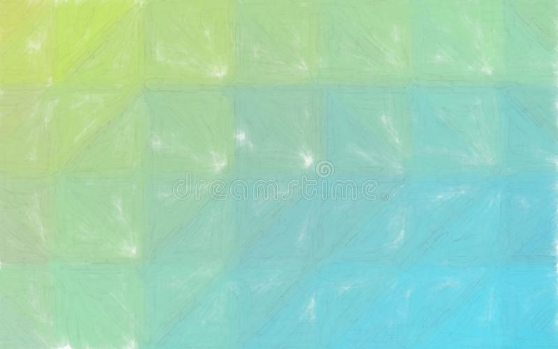 Good abstract illustration of yellow and green blue Watercolor with large brush paint. Good background for your needs. Good abstract illustration of yellow and stock illustration
