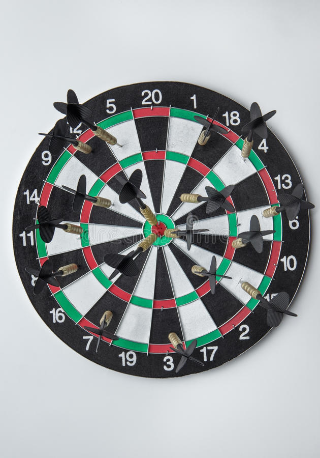 Good aim with darts stock photos