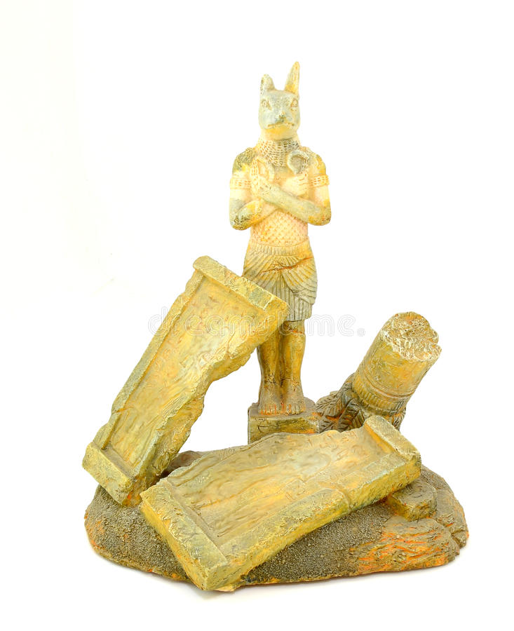 Good Anubis. Figure representing the god Anubis belonging to ancient Egypt stock photography