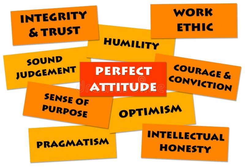 Good attitude royalty free illustration