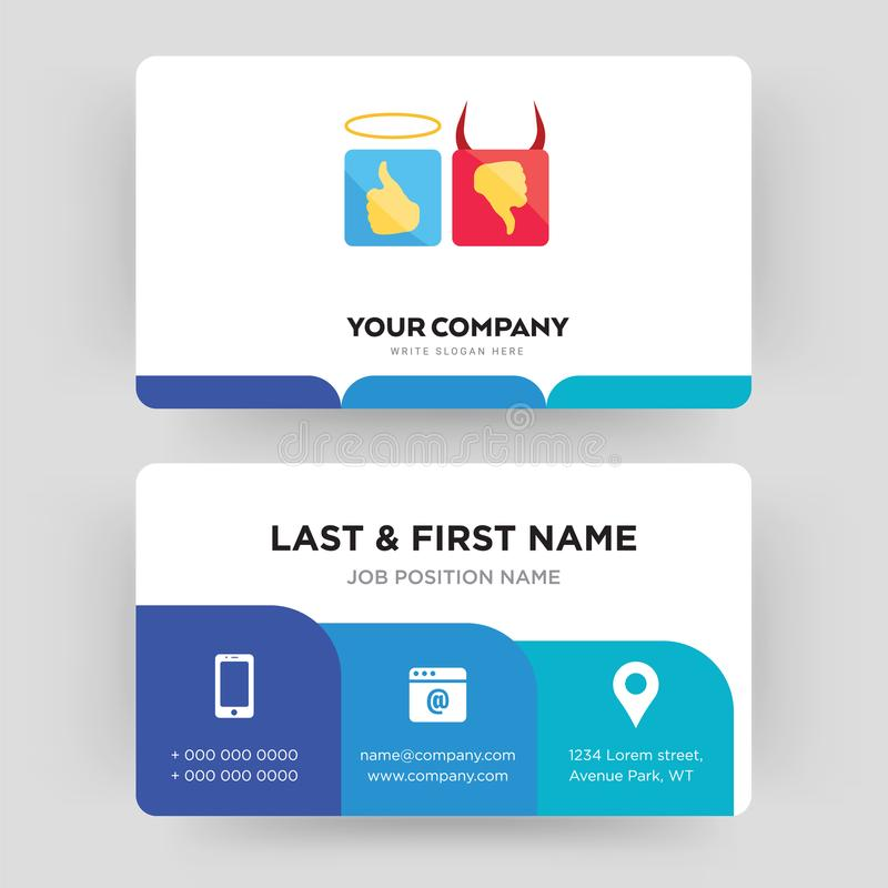 Good Bad Business Card Design Template, Visiting For Your Company ...