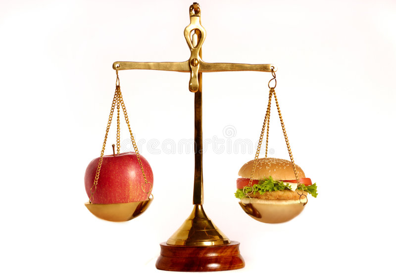 Download Good and bad diet stock photo. Image of cheeseburger, eating - 7689236