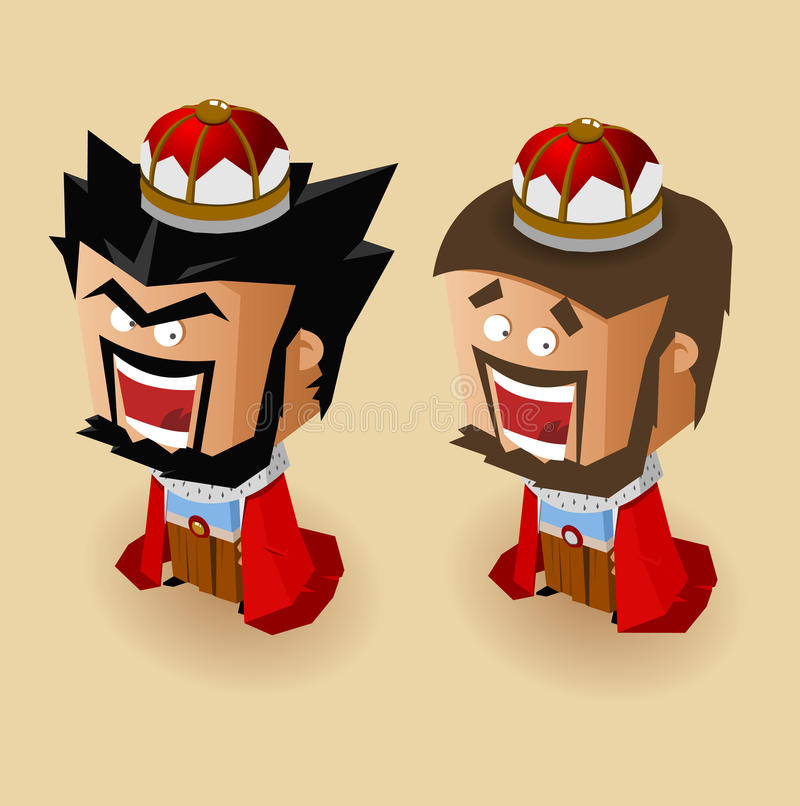 Good And Bad King Stock Images
