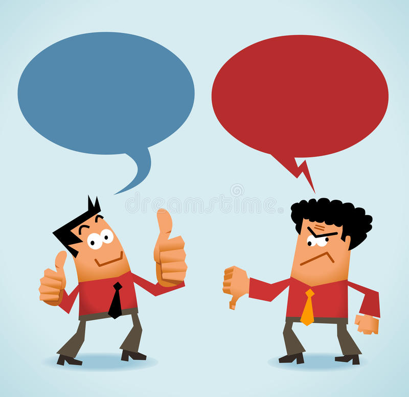 Good and Bad Review royalty free illustration