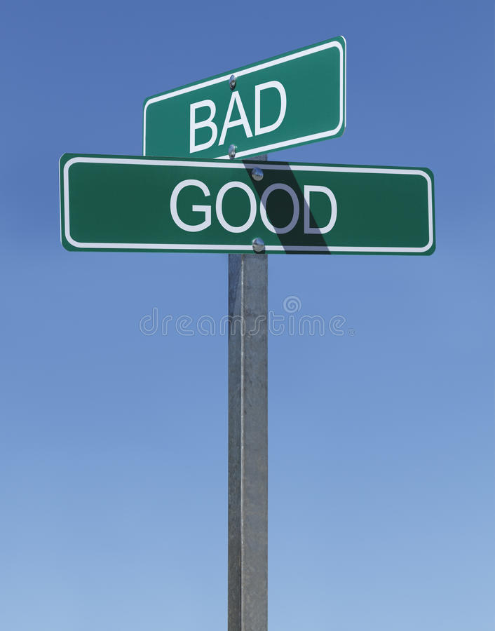 Good Bad Sign royalty free stock images