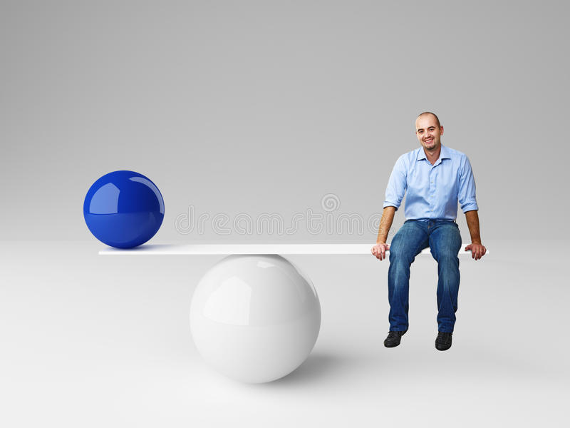 Good balance royalty free stock photos