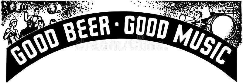Good Beer Good Music Stock Vector. Image Of Vintage, Women