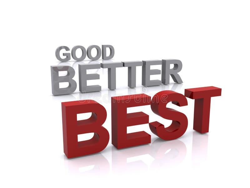 Download Good better best stock illustration. Illustration of text - 16174554