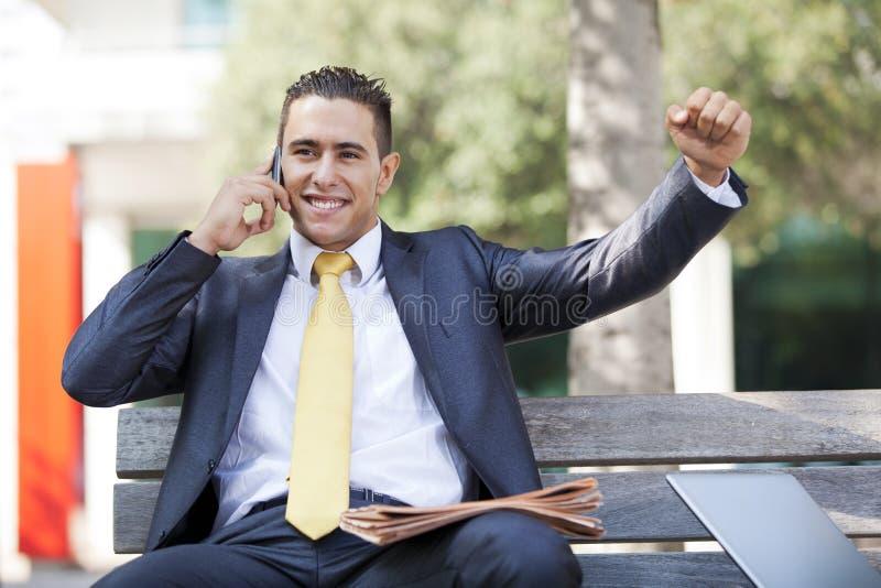Good business news stock photography