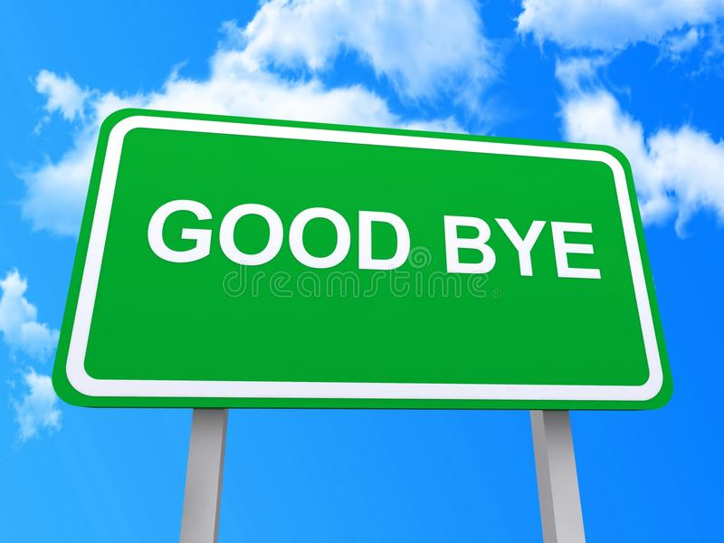 Good bye sign vector illustration