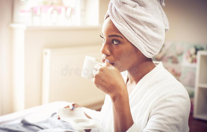 Good coffee for waking up. stock image