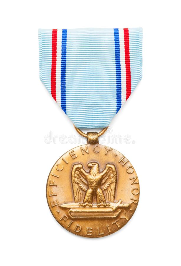 Good Conduct Medal. United States Air Force Good Conduct Medal Cut Out on White royalty free stock image
