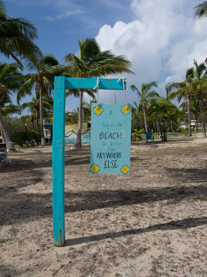 A Good Day at the Beach Sign royalty free stock photography